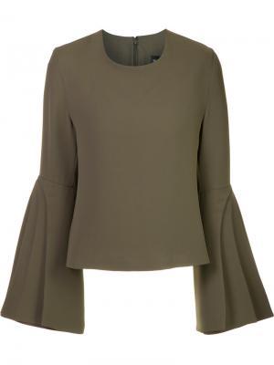 Блузка с многослойными рукавами Brandon Maxwell. Цвет: зелёный