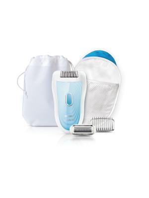 Набор для бережной эпиляции Philips Satinelle Soft HP6553/00. Цвет: синий, белый