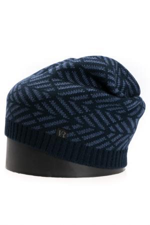 Шапка Vittorio Richi. Цвет: темно-синий, джинсовый