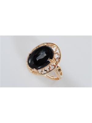 Кольцо Lotus Jewelry. Цвет: золотистый, черный