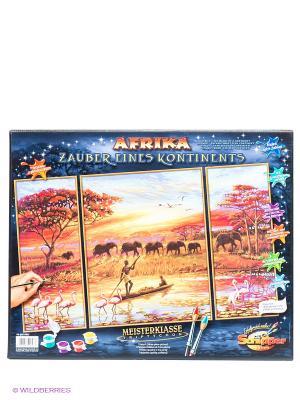 Набор для творчества Триптих Африка-Магический континент Schipper. Цвет: оранжевый, синий, коричневый