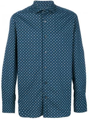 Рубашка с мелким узором The Gigi. Цвет: синий