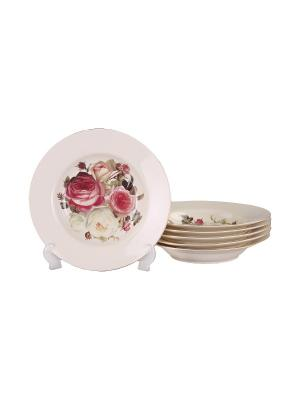 Набор тарелок суповых 6шт. 22,5см. PATRICIA. Цвет: белый