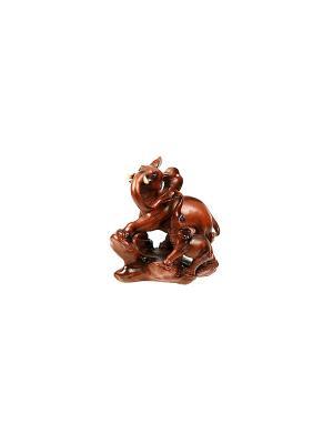 Фигурка декоративная Слоны Русские подарки. Цвет: кремовый, белый