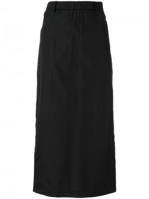 Прямая юбка Aspesi. Цвет: чёрный