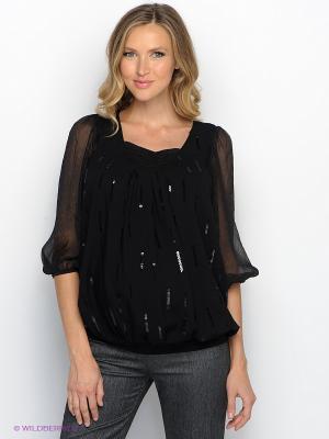 Блузка UNIOSTAR. Цвет: черный