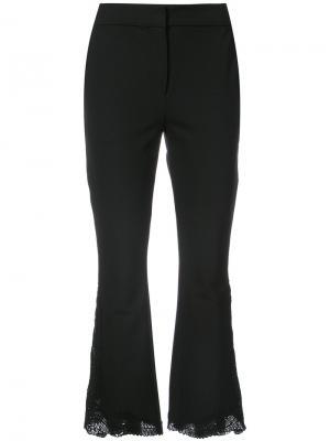 Расклешенные кружевные брюки Yigal Azrouel. Цвет: чёрный