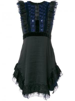 Shapeshifter lace dress Three Floor. Цвет: синий