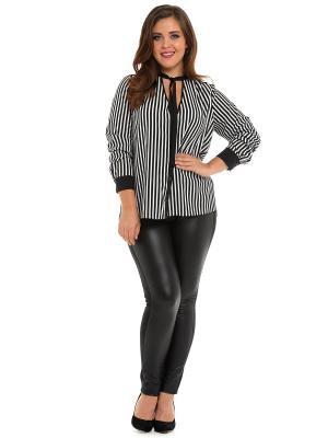 Блузка SVESTA. Цвет: черный, белый