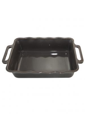Прямоугольное блюдо 34 см 2,6 л Appolia. Цвет: темно-серый