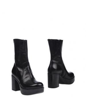 Полусапоги и высокие ботинки JEANNOT. Цвет: черный