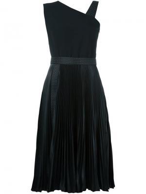 Асимметричное платье Christopher Kane. Цвет: чёрный