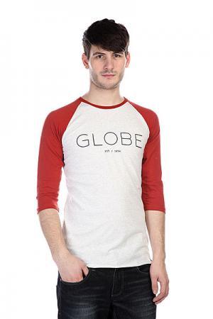 Лонгслив  Phase Raglan Grey Marle Globe. Цвет: белый,оранжевый