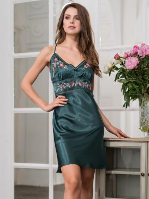 Ночная сорочка MIA-AMORE. Цвет: темно-зеленый
