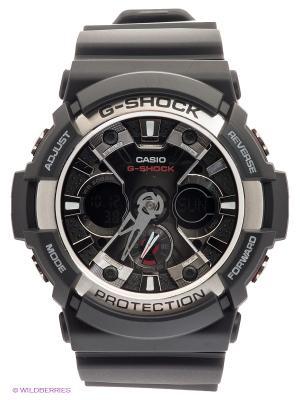 Часы G-SHOCK GA-200-1A CASIO. Цвет: черный, серебристый