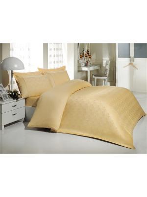 Комплект постельного белья 1,5сп БАМБУК MARIPOSA. Цвет: желтый