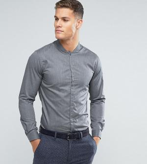 Noak Облегающая рубашка с воротником в восточном стиле. Цвет: серый