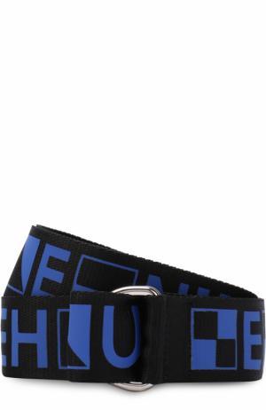 Текстильный ремень с принтом Proenza Schouler. Цвет: синий