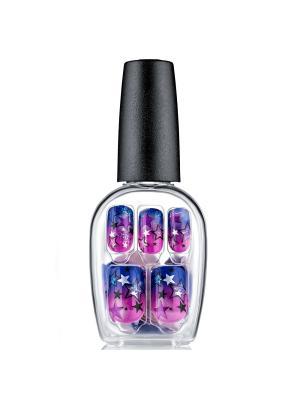 Твердый лак Импрессс Маникюр Звездопад, длина средняя Impress Manicure BIPDM240 Kiss. Цвет: розовый, синий