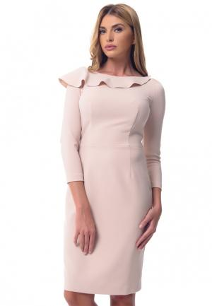 Платье Gene. Цвет: бежевый