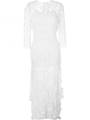 Платье Beverly Maria Lucia Hohan. Цвет: телесный