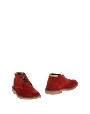 Полусапоги и высокие ботинки ANGELO NARDELLI. Цвет: красно-коричневый