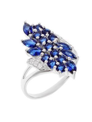 Кольцо BALEX. Цвет: синий, серебристый