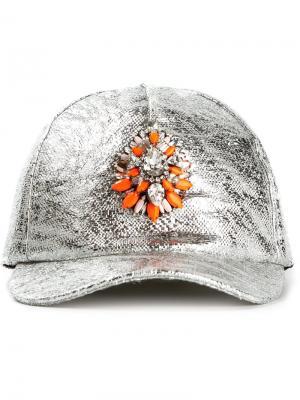 Бейсбольная кепка Hindi Shourouk. Цвет: металлический