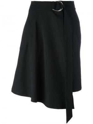 Асимметричная юбка Veronique Leroy. Цвет: чёрный