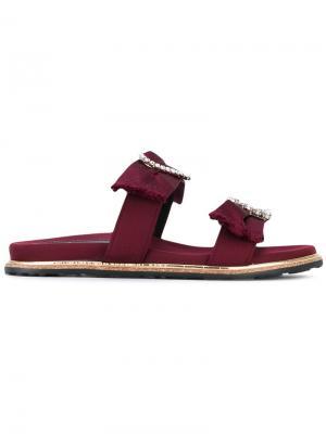Декорированные сандалии Suecomma Bonnie. Цвет: розовый и фиолетовый