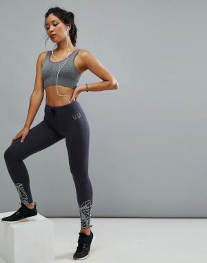 Elle Sport Спортивные леггинсы с графическим принтом. Цвет: черный