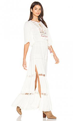 Макси платье regent Cleobella. Цвет: ivory
