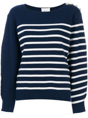 Трикотажный свитер в полоску 3.1 Phillip Lim. Цвет: синий