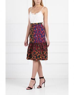 Хлопковая юбка с принтом Duro Olowu. Цвет: multicolor