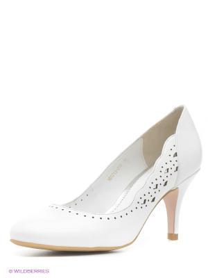 Туфли Moda Donna. Цвет: белый