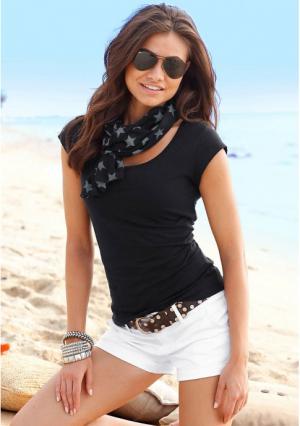 Комплект: кофточка + шарф BEACH TIME. Цвет: белый, коралловый, черный