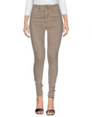 Джинсовые брюки CIMARRON. Цвет: хаки