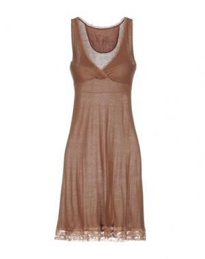 Короткое платье NELL&ME. Цвет: светло-коричневый