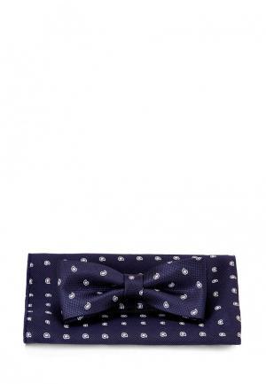 Комплект бабочка и платок Carpenter. Цвет: синий