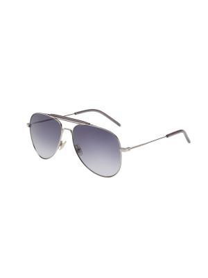 Солнцезащитные очки Saint Laurent. Цвет: серебристый, серый