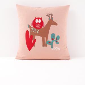 Наволочка детская с рисунком, Boralleto La Redoute Interieurs. Цвет: наб. рисунок/ розовый