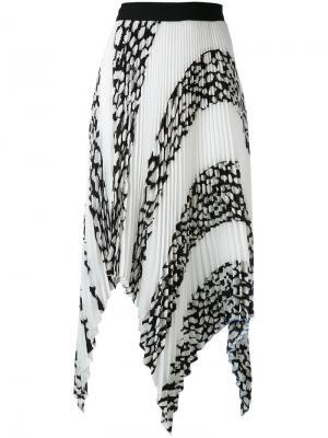 Плиссированная асимметричная юбка Proenza Schouler. Цвет: чёрный