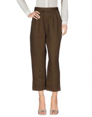 Повседневные брюки MAISON OLGA. Цвет: темно-синий