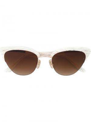 Солнцезащитные очки Pixie Sunday Somewhere. Цвет: белый