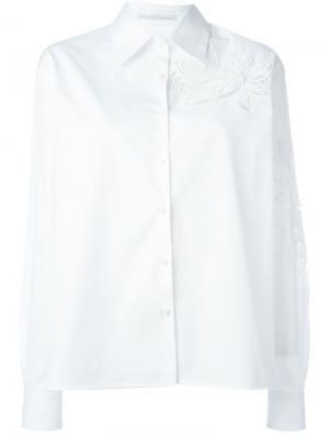 Рубашка с цветочной вышивкой Ermanno Scervino. Цвет: белый