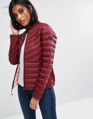 Hollister Дутая куртка. Цвет: красный