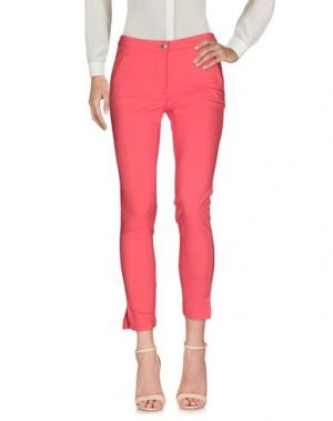Повседневные брюки BARONI. Цвет: коралловый