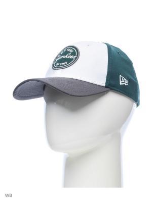 Бейсболка New Era. Цвет: зеленый, серый