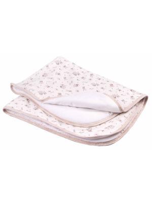 Одеяло трикотажное 75х90 Зайчики экрю DAISY. Цвет: темно-бежевый,молочный,кремовый