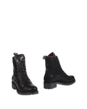 Полусапоги и высокие ботинки D'ACQUASPARTA. Цвет: черный